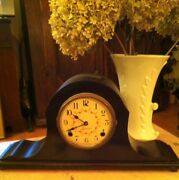 Antique Art-deco Sessions Mantle Clock Hardwear Intact And Key Not Working