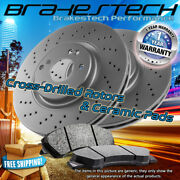 Front Drilled Rotors And Pads For Town And Country,c/v,routan Standard Brakes F302mm