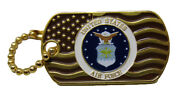Pack Of 50 United States Air Force Waving Gold Flag Hat Cap Lapel Pin/key Chain