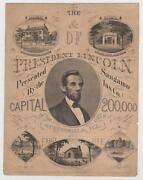 Hotchkiss C. W. The Home And Tomb Of President Lincoln Sangamo Insurance Il 1865