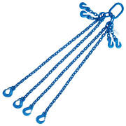 5/8 X 5and039 G100 Adjustable Chain Lifting Sling With Sling Hook Quadruple Leg