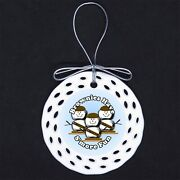 Scout Brownie S'more Smores Porcelain Ornament Gift Girl Troop Brownies