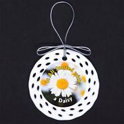 All Started With A Daisy Porcelain Ornament Gift Scouts Scout Girl Brownie