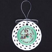 Behind Every Scout Leader Porcelain Ornament Gift Scouts Girl Troop