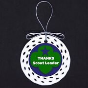 Thanks Scout Leader Porcelain Ornament Gift Scouts Girl Green Blue