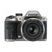 Used Pentax X-5 Digital Camera Silver Excellent Free Shipping