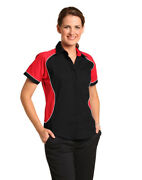 Benchmark Ladiesand039 Tri Colour Arena Shirt Concealed Placket And Left Chest Pocket
