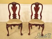 L25546be Pair Kindel Winterthur Collection Dining Room Side Chairs W Claw Feet