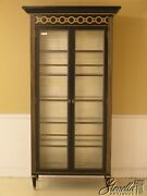 42328 Drexel Black And Gold 2 Door Curio China Cabinet New
