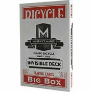 Big Bicycle Jumbo Invisible Red Deck Playing Cards Uspcc Magic Tricks Stage Show