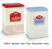 Flour Storage Plain And Self Raising Retro Style Tins Containers Kitchen Canister