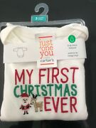 Nwt Carters My First Christmas Ever 3months Long Sleeve Body Suit
