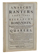 Anarchy Of The Ranters Robert Barclay Second Edition 1691 Quakers Anarchist