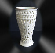 Lenox Reticulated Vase With Clear Glass Insert
