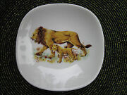 Bavaria Schumann Arzberg Germany Lioness And Cub Plate/dish Golden Crown Eandr