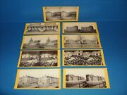 1860's Washington,d.c. Stereoview Cards Lot White House And U.s. Capitol Views