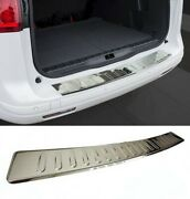For Volvo Xc-60 Facelift 2014+ Rear Bumper Protector Guard Cover Chrome Sill