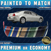 New Painted To Match - Rear Bumper Cover 2008-2012 Chevy Malibu W/ License Holes