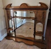 Andnbspantique Overmantle Mirror/fireplace/overmantle Mirror/ Fireplace Decor