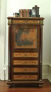 Stunning Louis Xv, Xvi Style French Antique Secretaire Writing Desk, 19th Cent.