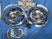 Harley Flh Road Glide Wheels Flhx Chrome Air Strikes Rime Fit 09 And Later Touring