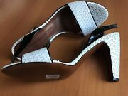 Moreschi Women's Leather White/black Size Us 9,5 Eu 40, Made In Italy, New