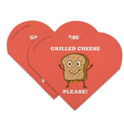 Grilled Cheese Please Sandwich Funny Heart Faux Leather Bookmark Set