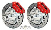Wilwood 64-72 Chevelle A-body Front Disc Big Brake Kit Drilled 13 W/ Flex Hoses