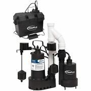 Proflo Pf92952 - 1/3 Hp Combination Primary And Backup Sump Pump System