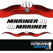 Mariner 40hp 2 Stroke Outboard Decals/sticker Kit