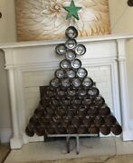 Vintage Outsider Folk Art Sculpture Fromme's Coffee Can Christmas Tree
