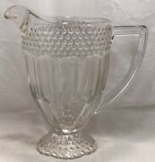 Gorham Crystal Germany Emily's Attic Collection Crystal Water Juice Milk Pitcher
