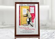 Ww1 Recruiting Poster - Jobs For Fighters American Propaganda Military Prints