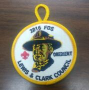 Lewis And Clark Council 2016 Fos Round Patch Obedient