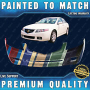 New Painted To Match Front Bumper Cover For 2004-2005 Acura Tsx Sedan 4dr 04-05