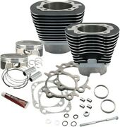 Sands Cycle 117in Big Bore Kit Wrinkle Black 910-0221 For Harley