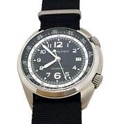 Hamilton Menand039s H76455933 Khaki Aviation Automatic Stainless Steel Watch With...