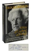 A Way Of Looking At Things Erik Erikson Signed First Edition 1987 Psychology