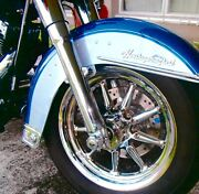 Harley-davidson 00-2017 Heritage And Deluxe Softail Non Abs 9 Spoke Chrome Wheels