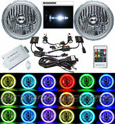 7 Rgb Smd Multi-color White Red Blue Green Led Halo Angel Eye 6k Hid Headlights