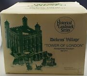 Department 56 Tower Of London Dickens Willage Set Of 5 Heritage Village With Box