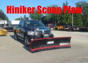 Hiniker Scoop Snow Plow Heavy Duty Commercial 8and039 Handles Big Pushes 6801 0