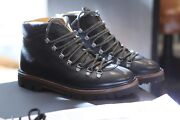 Bally Graf Black Calf Leather Hiking Snow Boots Swiss Rare Discontinued Size 7 D