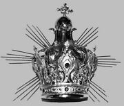 Couronne Impandeacuteriale Avec Rayons Laiton Argentandeacute Imperial Crown And Rays Silver