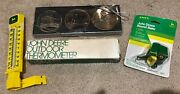Vintage John Deere Stocking Stuffer Collectables Thermometer Bailer Ornaments