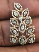 Pave 1.42 Cts Round Marquise Pear Cut Natural Diamonds Ring In Hallmark 14k Gold