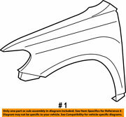 53802-48100 Toyota Fender Sub-assy Front Lh 5380248100 New Genuine Oem Part