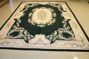 Genuine Hand Made Aubusson 100 Silk Super Fine Rug 9and039x12and039 Vintage Great Deal