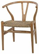 22 W Set Of Two Dining Chair Exotic Sungkai Wood Wishbone Frame Woven Seat 1956