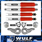 3 Front 3 Rear Lift Kit W/ Shocks For 2000-2006 Chevy Avalanche 1500